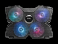 MARSGAMING MNBC3 NOTEBOOK COOLER, RGB FLOW, 4x FAN, DUAL FAN CONTROL,17.3
