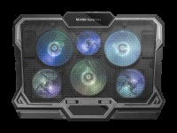 MARS GAMING MNBC4 NOTEBOOK COOLER, RGB FLOW, 6x FAN, DUAL FAN CONTROL,17.3