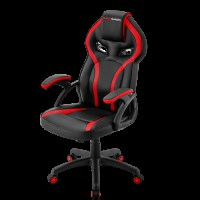MARS GAMING MGC118 RED GAMING CHAIR, ARMREST CUSHION, GAS-LIFT CLASS 4