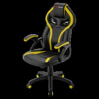 MARS GAMING MGC118 YELLOW GAMING CHAIR, ARMREST CUSHION, GAS-LIFT CLASS 4