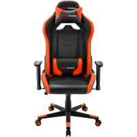MARS GAMING MGC3 ORANGE PROFESSIONAL GAMING CHAIR, NECK & BACK CUSHIONS, 2D ARMREST, GAS-LIFT CLASS 4